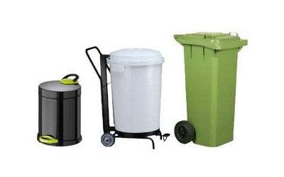 cubos de basura, contenedores, recogedores de basura